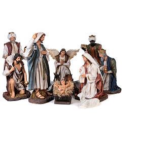 Presepe resina dipinta 90 cm set 11 statue s1
