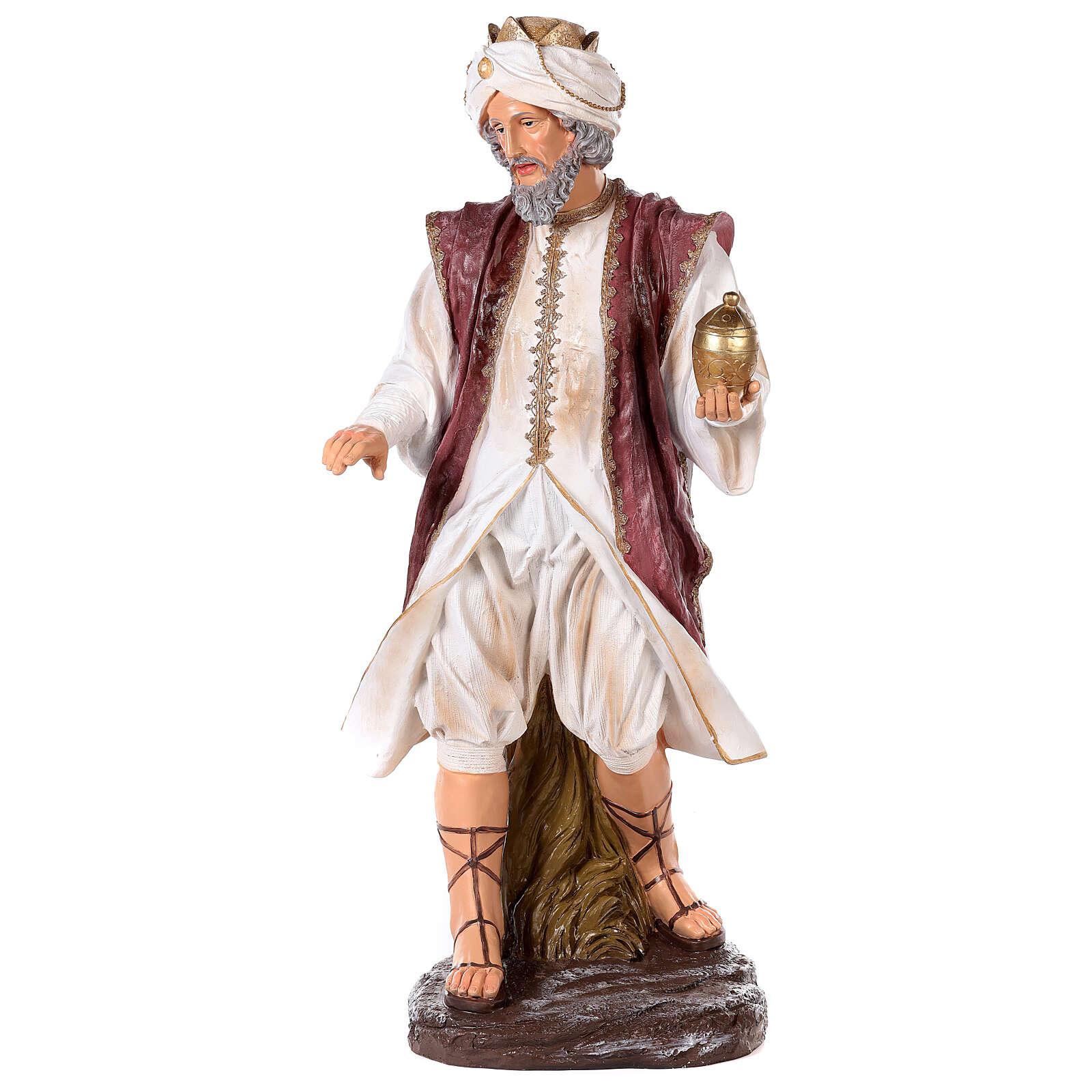 Presépio completo resina pintada 11 figuras altura média 90 cm 4