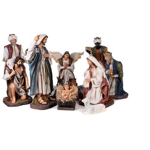 Presépio completo resina pintada 11 figuras altura média 90 cm 1