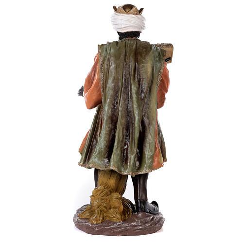 Presépio completo resina pintada 11 figuras altura média 90 cm 12
