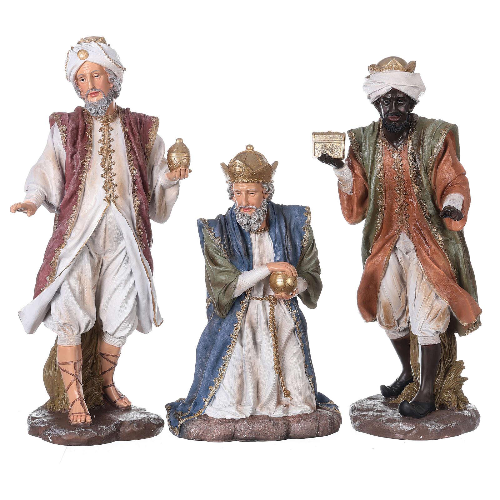 Presepe in resina dipinta 11 statue da 60 cm 4