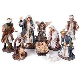 Presepe in resina dipinta 11 statue da 60 cm s1