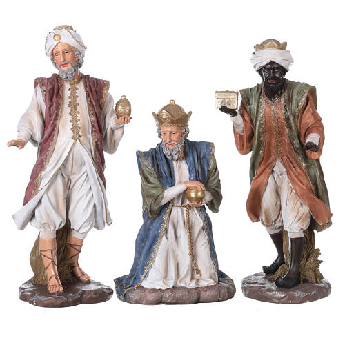 Presepe in resina dipinta 11 statue da 60 cm 5