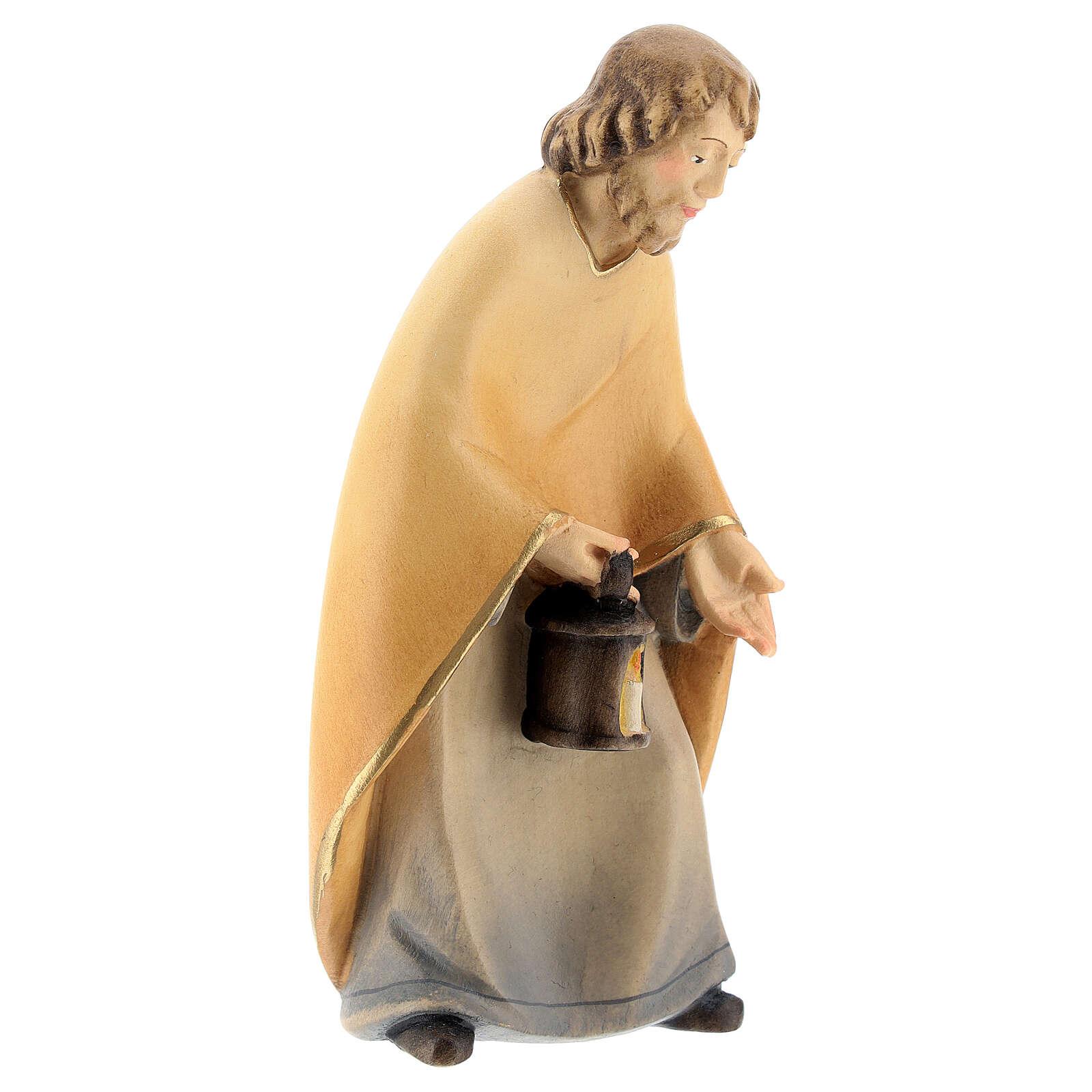 San Giuseppe presepe stilizzato 14 cm Val Gardena 4