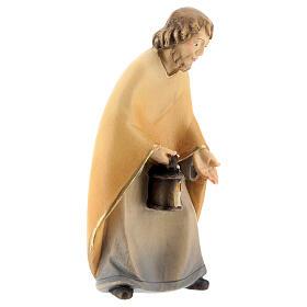 San Giuseppe presepe stilizzato 14 cm Val Gardena s3