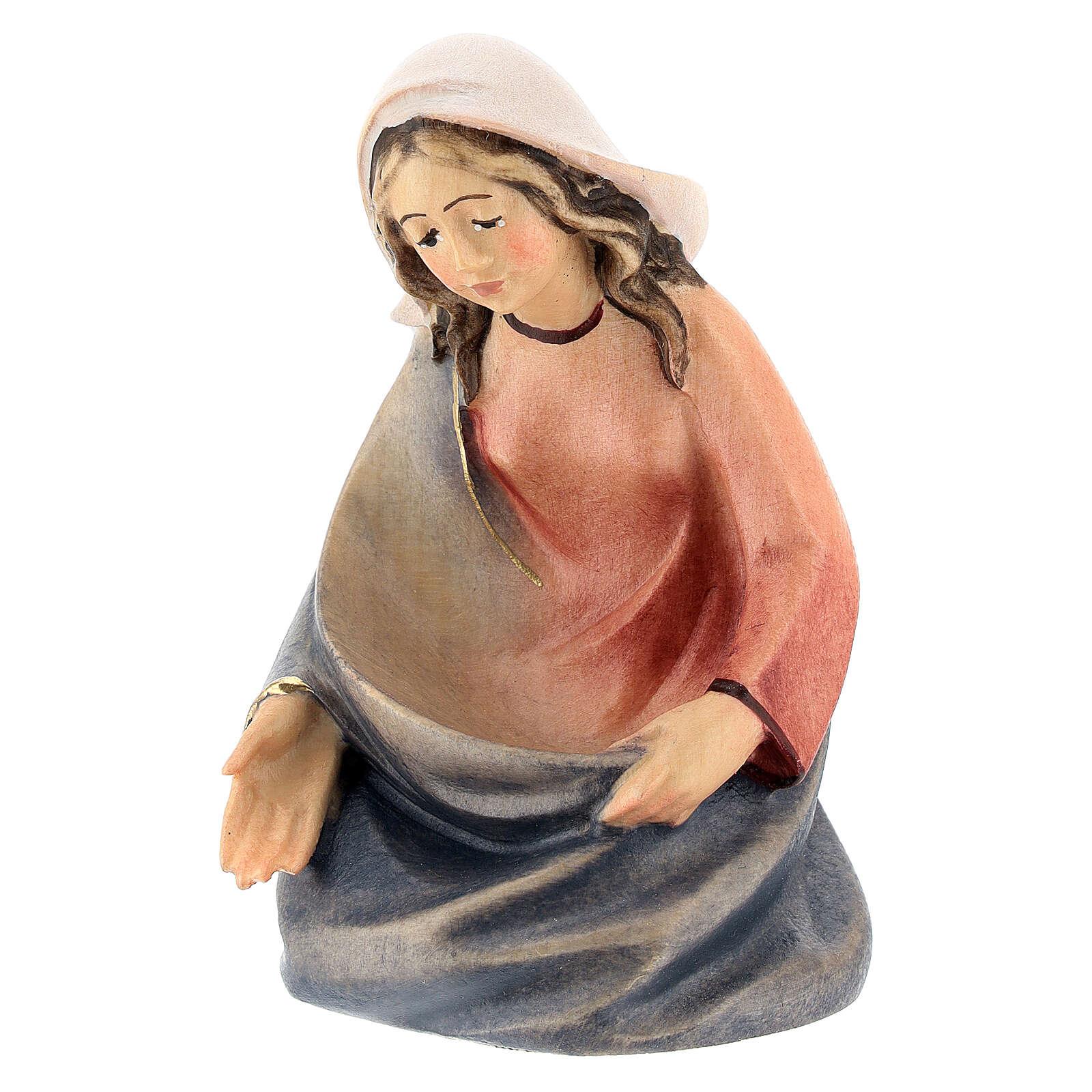 Natività presepe stilizzato Val Gardena 14 cm 4