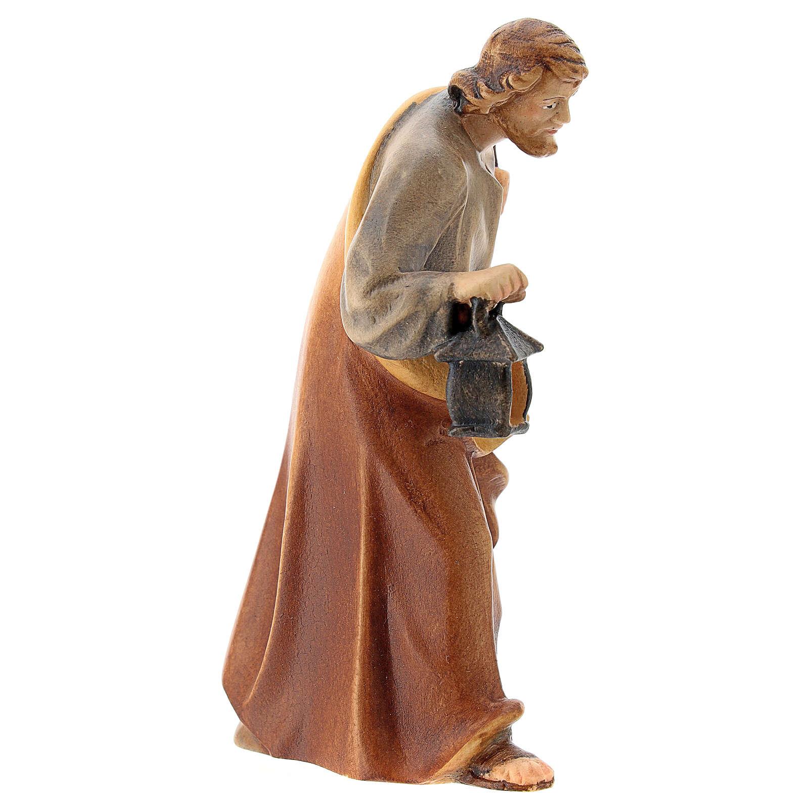 San Giuseppe presepe Raffaello 12 cm legno Val Gardena 4
