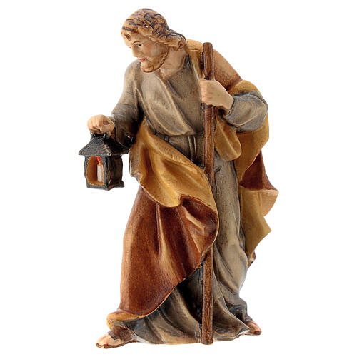 San Giuseppe presepe Raffaello 12 cm legno Val Gardena 2