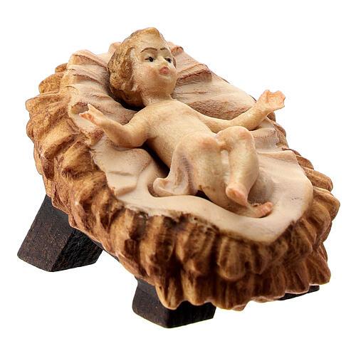 Natività presepe Raffaello dipinto 12 cm Val Gardena 4