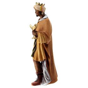 Re Magio moro presepe Raffaello 12 cm Val Gardena dipinto s2