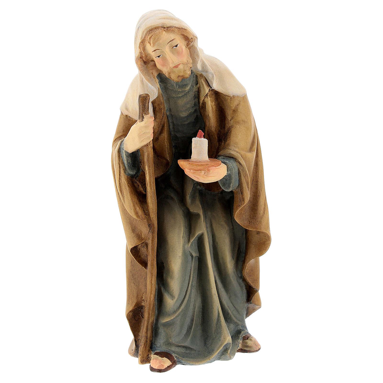 San Giuseppe presepe Matteo Val Gardena 12 cm 4