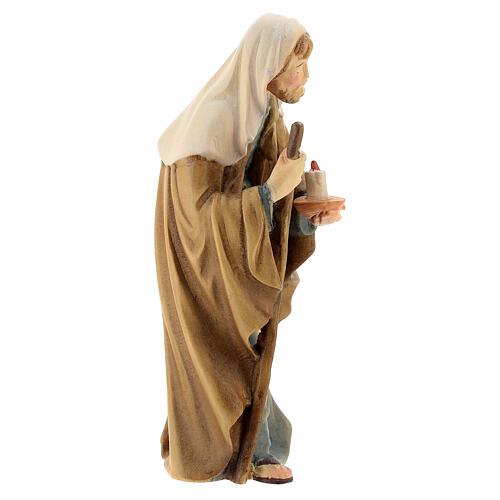 San Giuseppe presepe Matteo Val Gardena 12 cm 3