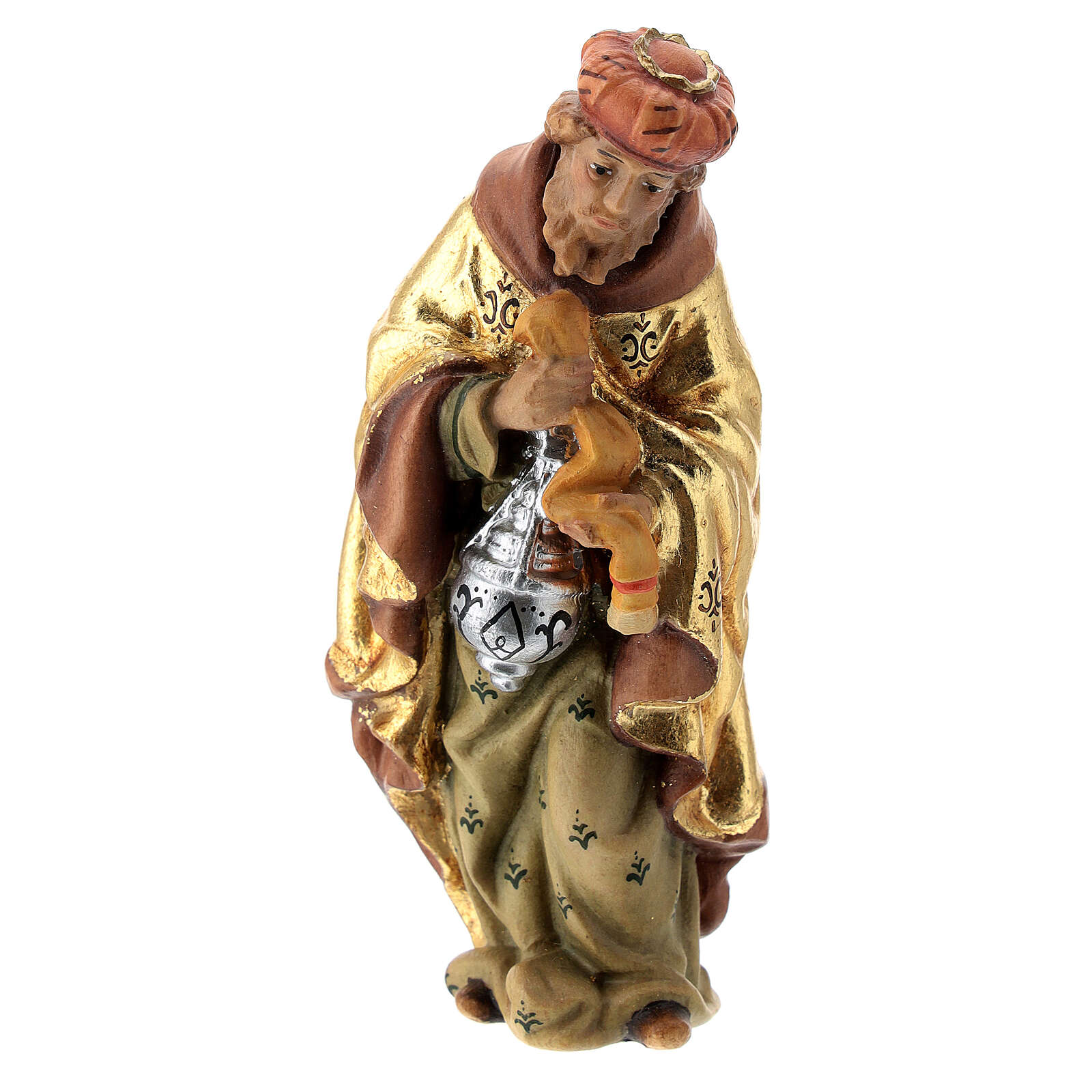 Re Magi presepe Matteo Val Gardena 12 cm legno 4