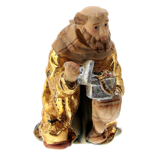 Re Magi presepe Matteo Val Gardena 12 cm legno 3
