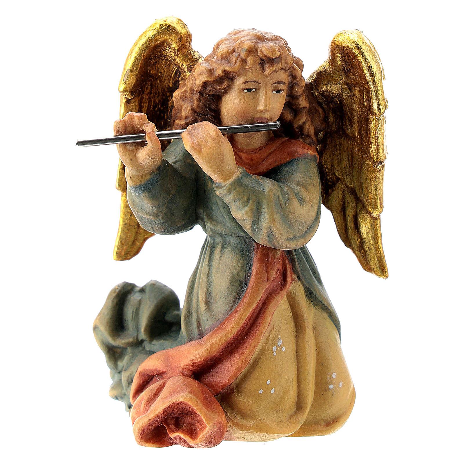 Angelo con flauto presepe Matteo 12 cm Valgardena 4