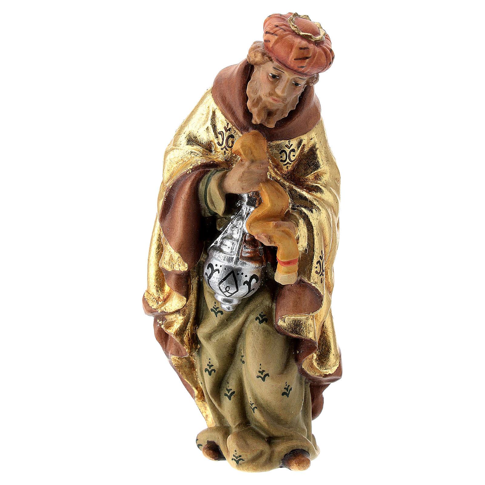 Re Magio incenso presepe Matteo Val Gardena 12 cm legno 4