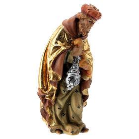 Re Magio incenso presepe Matteo Val Gardena 12 cm legno s3