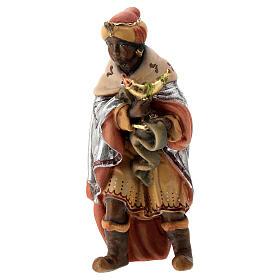 Re Magio moro presepe Matteo Val Gardena 12 cm legno s2