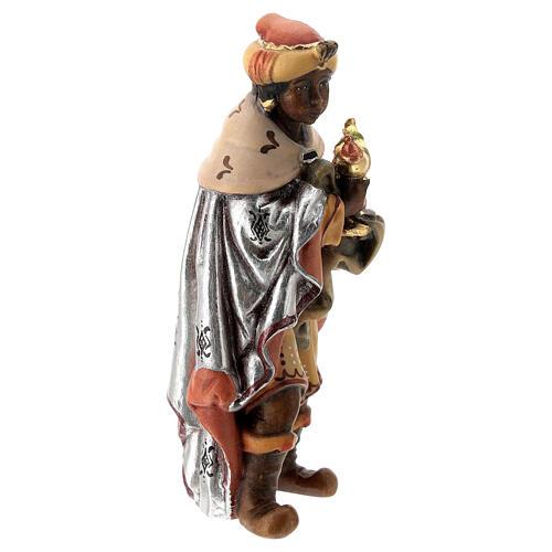 Re Magio moro presepe Matteo Val Gardena 12 cm legno 3