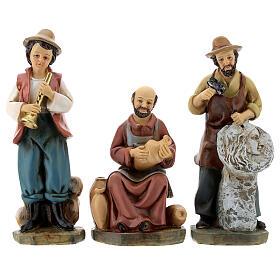Statue in resina personaggi presepe 15 cm s3