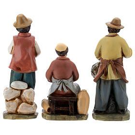 Statue in resina personaggi presepe 15 cm s6