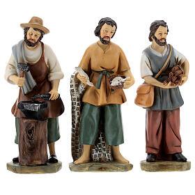 Set 9 personaggi presepe resina 15 cm s2