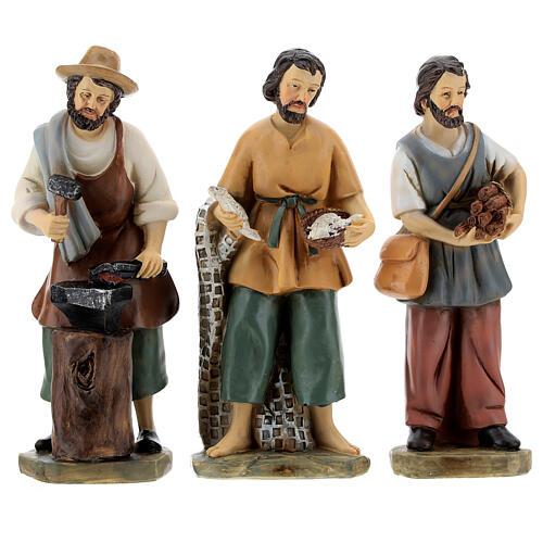 Set 9 personaggi presepe resina 15 cm 2