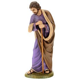 Statua San Giuseppe vetroresina esterno presepe Lando Landi 100 cm