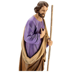 Statua San Giuseppe in piedi vetroresina manto marrone presepe 160 cm esterno