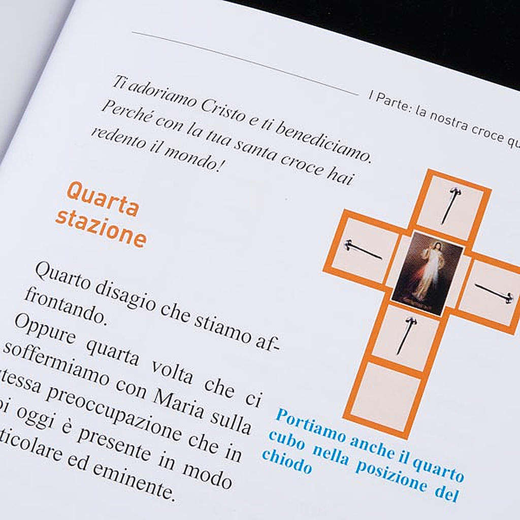 Cross for Stations of the Cross, Divine Mercy of Jesus with book 4