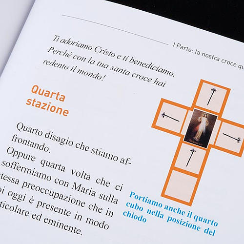Cross for Stations of the Cross, Divine Mercy of Jesus with book 6