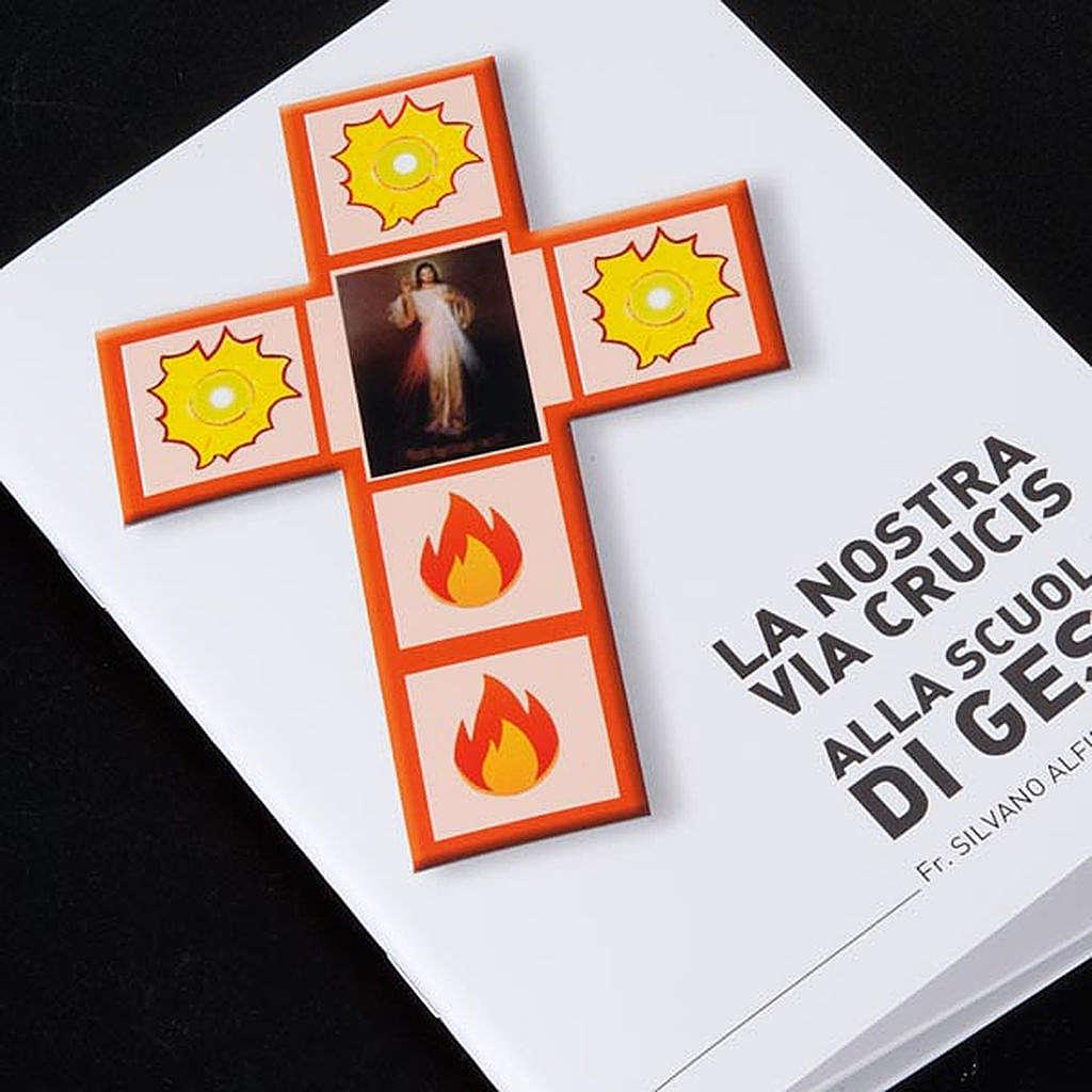 Croce Via Crucis Gesù Divina Misericordia con libretto 4