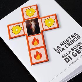 Croce Via Crucis Gesù Divina Misericordia con libretto s5