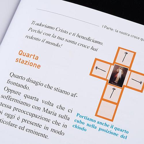 Croce Via Crucis Gesù Divina Misericordia con libretto 6