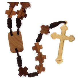 Chapelet bois d'olivier, croix s2