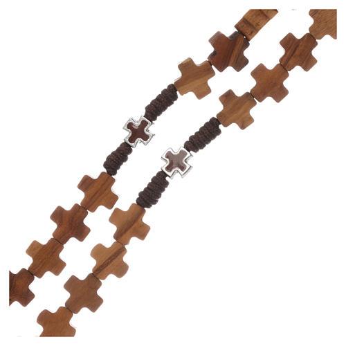 Chapelet bois d'olivier, croix 3
