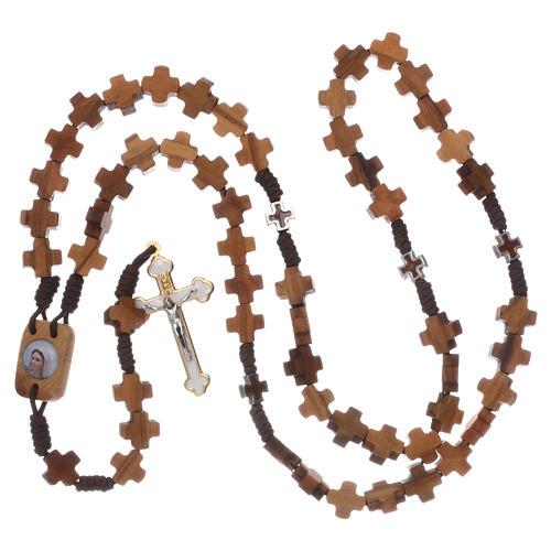 Chapelet bois d'olivier, croix 4