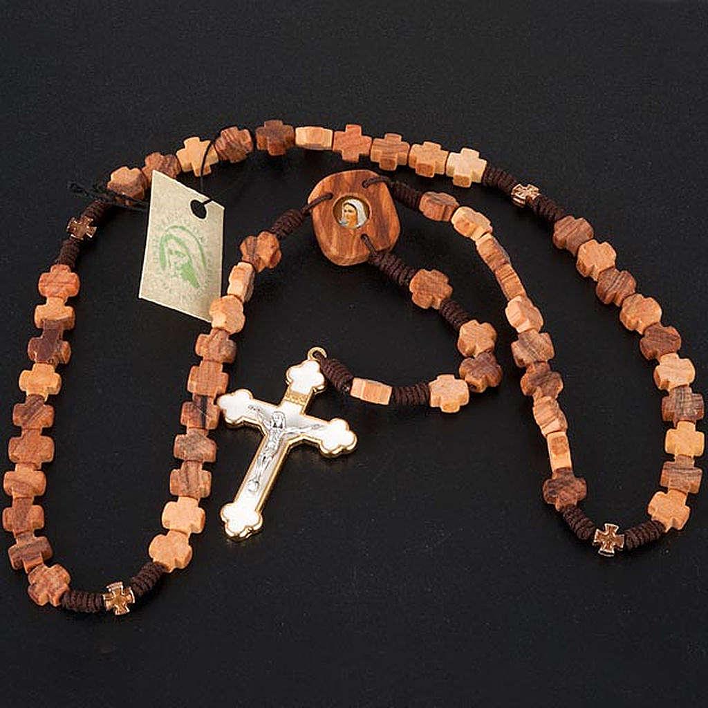 Rosario ulivo grani a croce 4