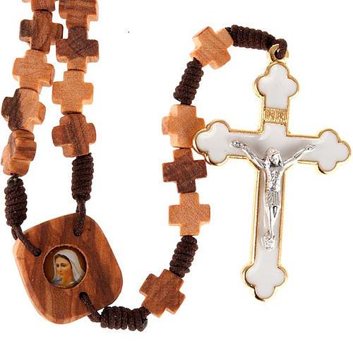 Rosario ulivo grani a croce 1