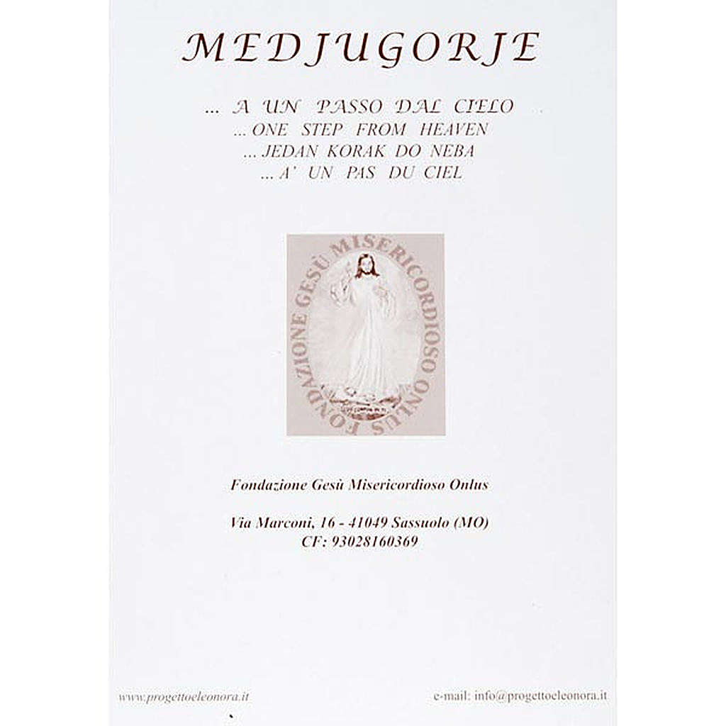 Virgen de Medjugorje estampa litográficas iglesia flores 4