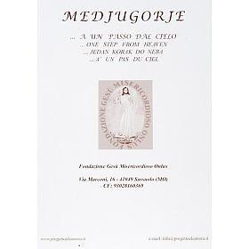Virgen de Medjugorje estampa litográficas iglesia flores s2
