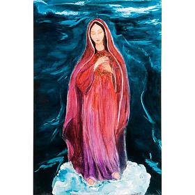 Virgen de los Dolores estampa litográfica
