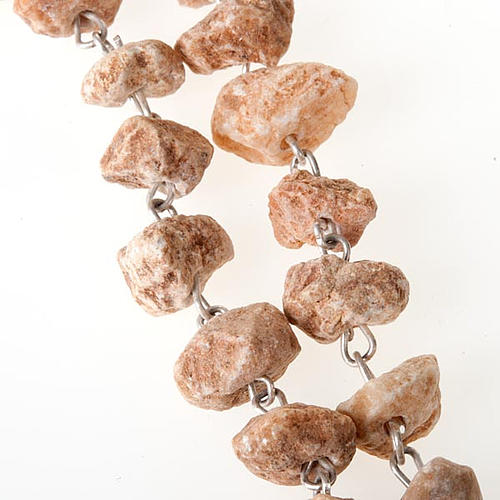 Rosary with grains in red stone with Our Lady of Medjugorje 3