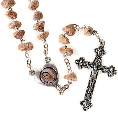 Rosario granos pietra rosa Virgen Medjugorje 1