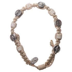 Bracelets, dizainiers: chapelet Medjugorje corde, médaille, pierre