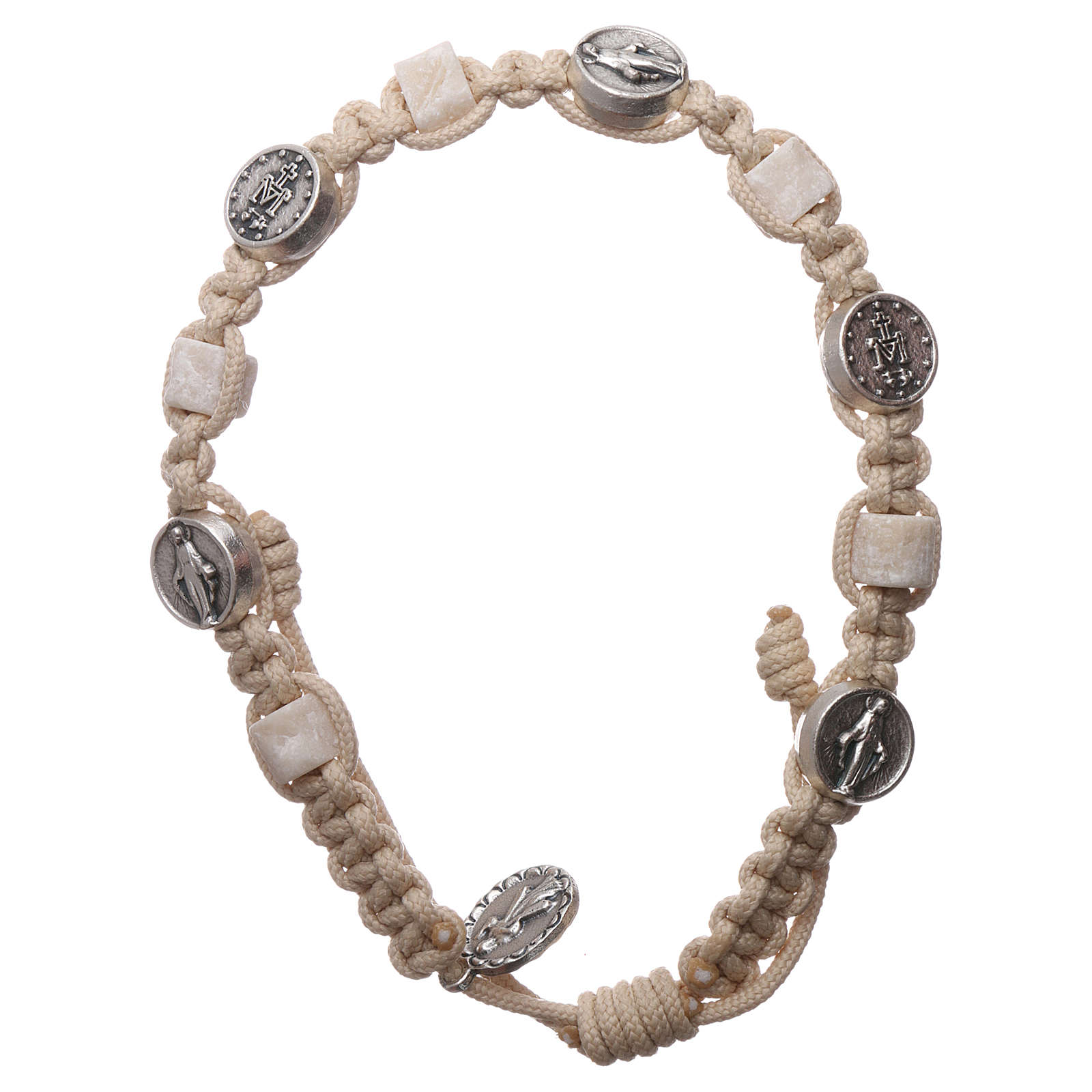 Medjugorje bracelet, cord, medal, stone 4