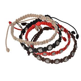 Bracelet dizainier sur corde et petites roses s7