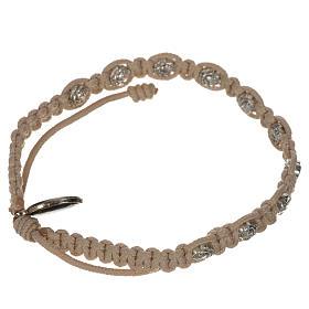 Bracelet dizainier sur corde et petites roses s10