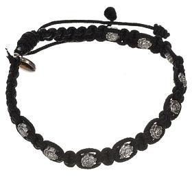 Bracelet dizainier sur corde et petites roses s11