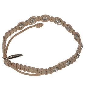 Bracelet dizainier sur corde et petites roses s4